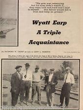 Wyatt Earp - A Triple Acquaintance of Raymond Thorpe