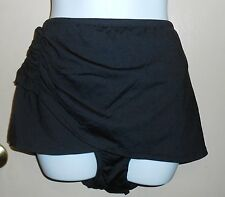 Bisou Bisou Woman's Plus Size Skirted Swimsuit Bottom Black 3X NWT