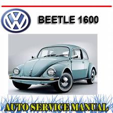 VW VOLKSWAGEN BEETLE 1600 WORKSHOP SERVICE REPAIR + OWNER'S MANUAL ~ DVD