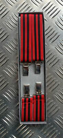 Retro Vintage Unisex Slim Clip-On Elastic Braces / Suspenders. Adjustable - NEW