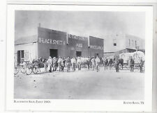 "*Postcard-""Blacksmith Shop, Early 1880's""  *Round Rock, TX  (A88-2)"