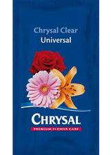 CHRYSAL CLEAR UNIVERSAL - FLOWER FRESH - FLOWER FOOD - 25 SACHETS  x 1 LITRE