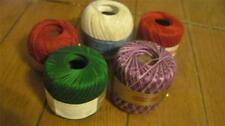 Lot of 5 Balls/Skeins of Assorted Yarn--Bonita, J & P Coats, Puritan, Star