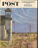OCT 17 1953 SATURDAY EVENING POST magazine cover print - SCHOOL BELL