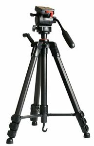 "Hahnel Triad 55 Video Camcorder DSLR Tripod 65"" 166cm 2-Way Pan/Tilt Fluid Head"