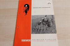 144451) Rabewerk Dreipunkt Vibrationseggen Prospekt 01/1961