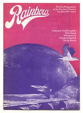PINK FLOYD Rainbow Theatre concert programme UK Tour 1972