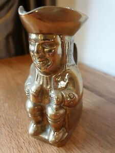 Antique Brass Toby Jug Paperweight Pencil Holder