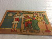 Cartoon Caricature Postcard Maternity Ward Surprise vintage