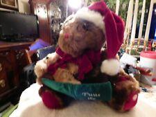 Dan Dee DanDee Reading Twas the Night Before Christmas Bear Plush WORKS PERFECT