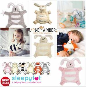 Sleepytot Baby Toddler Comforter Soother Dummy Holder Clip Cot Toy Boy Girl UK