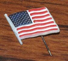 Lewtan - Red White & Blue American Flag Usa Plastic Stick Lapel / Pin / Brooch