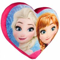 Frozen Heart Shaped Cushion Official Plush Pillow Anna and Elsa Princess Disney