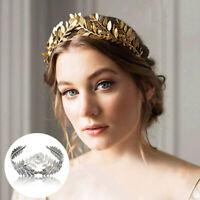 Gold/Sliver Leaf Style Wedding Party Bridal Tiara Crown Vintage Bride Hair Hoop