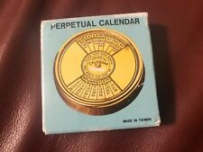 50 YEAR Nautical PERPETUAL CALENDAR  Paperweight 2000-2049 New in box