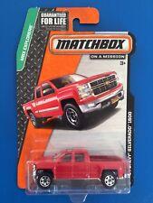 2015 Matchbox RED 2014 V8 CHEVROLET SILVERADO 1500 pickup mint on long card!