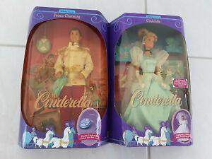 1991 Mattel Inc Disney Classics Cinderella Barbie Doll 1624 Prince Charming 1625