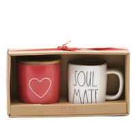 New Rae Dunn Red Heart Cellar & Soulmate Mug Set - Valentine's Online Exclusive