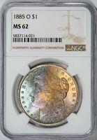 1885-O Morgan NGC MS62 Pastel Color-Toned Silver Dollar!