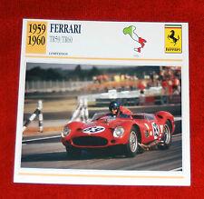 1959-60 Ferrari Testa Rossa 59/60 Competizione  Edito-Service, SA collector card