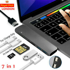 """For MacBook Pro 13"""" 15"""" Type C USB C Hub Adapter HDMI Micro SD Card Reader 7 in1"""