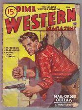 Dime Western Jan 1946 Pulp Walt Coburn Harry F. Olmsted Rod Patterson M. Oblinge
