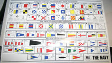 SEMAPHORE FLAGS US NAVY INTERNATIONAL MORSE CODE CHART USS PIN UP MESSAGE FLAG