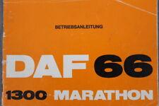 """DAF 66 1300 Marathon """"1973"""" Bedienungsanleitung """"Deutsch""""  Betriebsanleitung"""