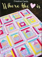 Where the Heart Is - fun pieced quilt MINI PATTERN - Creative Card Melly & Me