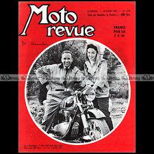 MOTO REVUE N°1334-c HOREX 350 RESIDENT SCOOTER MANURHIN TRIAL LAMBORELLE 1957