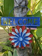 Garden Collection Patriotic Sign, Welcome Flower, Choose Style