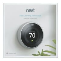 Sealed! Google Nest 3rd Generation Learning Thermostat T3007ES Stainless Steel @