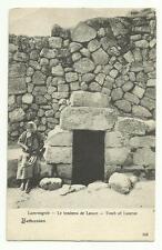 Tomb of Lazarus, Bethany. Israel postcard