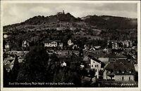 Bad Blankenburg Thüringen s/w AK ~1920/30 Totale  Ruine Greifenstein ungelaufen