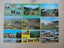 9 x Postkarte gelaufen Briefmarke Deutschland Süd - Nord