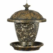 New listing Perky Pet 305 Holly Berry Gilded Chalet Bird Feeder, 2 Lbs, Rustic Antique Gold
