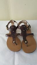 "Franco Sarto ""Toro"" women snake skin man made materials thong sandals size 7.5M"