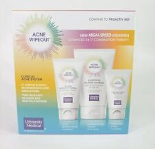 Acne Wipeout Skin Care System 3-Piece Kit Combination Blemish Clinical Skincare