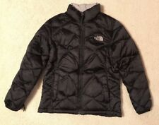 EUC! Girls The North Face Black Quilted Goose Down Zip Up Jacket Sz L