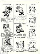 1956 ADVERT Toy Master Ticker Toys Tinkertoys Major Grad Sets