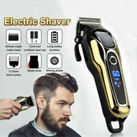 Professional Men Electric LCD Monitor Clipper Cordless Hair Beard Trimmer Shaver