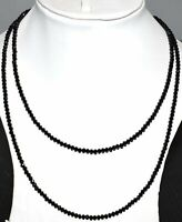 Natural Black Spinel Gemstone 4 mm Faceted Beads 12-45'' Strand Necklace VF08-26