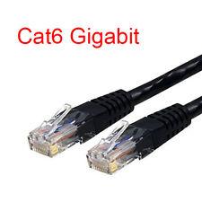 1.5Ft Cat6 RJ45 24AWG 550Mhz Gigabit LAN Ethernet Network Patch Cable - Black