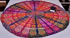 Indian Rond Multi Mandala Yoga Tapis Tenture Murale Boho Tapis De Plage