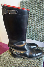 VINTAGE 60,s  EVENRIDE LEATHER MOTORCYCLE BOOTS  SIZE 8 MADE IN ENGLAND
