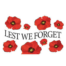 Remembrance Day Poppy Military Flag  Armed Forces 5ftx 3ft. Lest We Forget