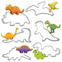6Pcs Stainless Steel Dinosaur Fruit Pastry Cookie Biscuit Cutter Cake 2W