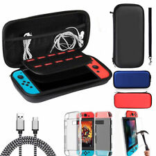 For Nintendo Switch Carrying Case Bag+Hard Cover+Charge Cable+Tempered Glass