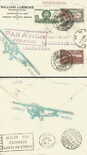J) 1936 MEXICO, PYRAMID OF THE SUN, EAGLEMAN AND AIRPLANE, TLALOC GOOD OF WATER,