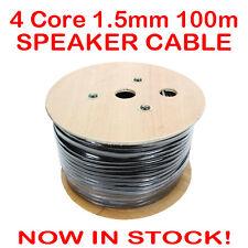 100m 4 Core Heavy Duty Speaker Cable 1.5mm Wire Lead 100 Metre Bulk Home Theatre
